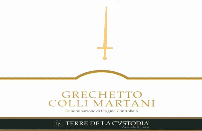 Terre de la Custodia Colli Martani Grechetto 2008 Front Label