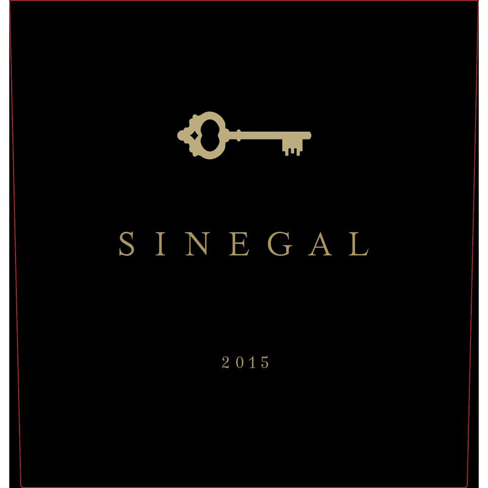 Sinegal Estate Reserve Cabernet Sauvignon 2015 Front Label