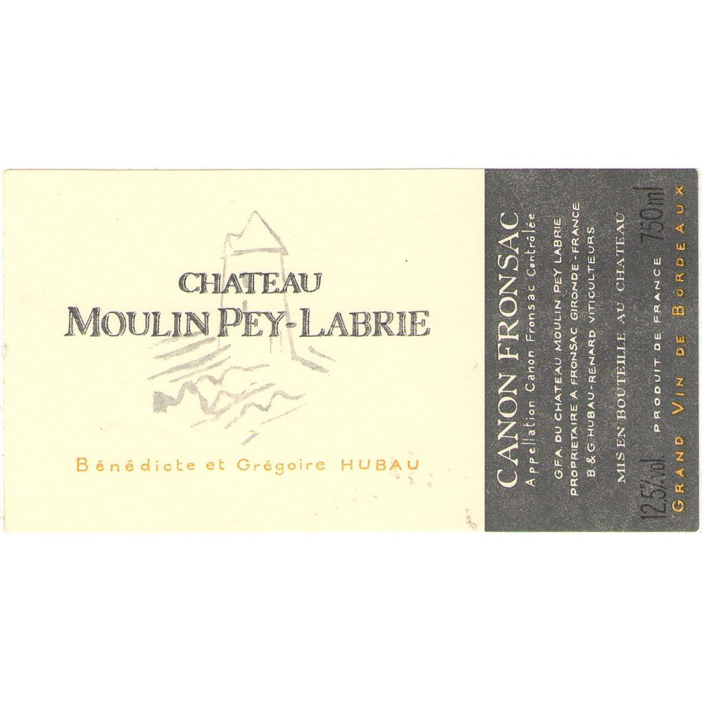 Chateau Moulin Pey-Labrie  2004 Front Label