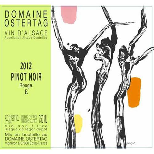 Ostertag Rouge E Pinot Noir 2012 Front Label