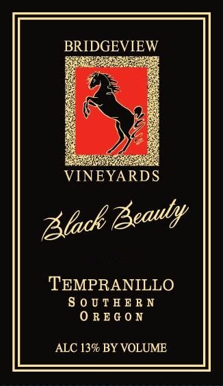 Bridgeview  Black Beauty Tempranillo 2011 Front Label