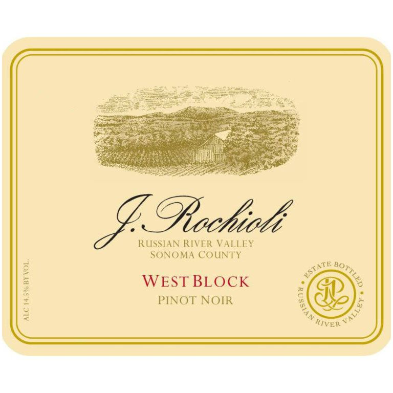 Rochioli West Block Pinot Noir (scuffed label) 2002 Front Label