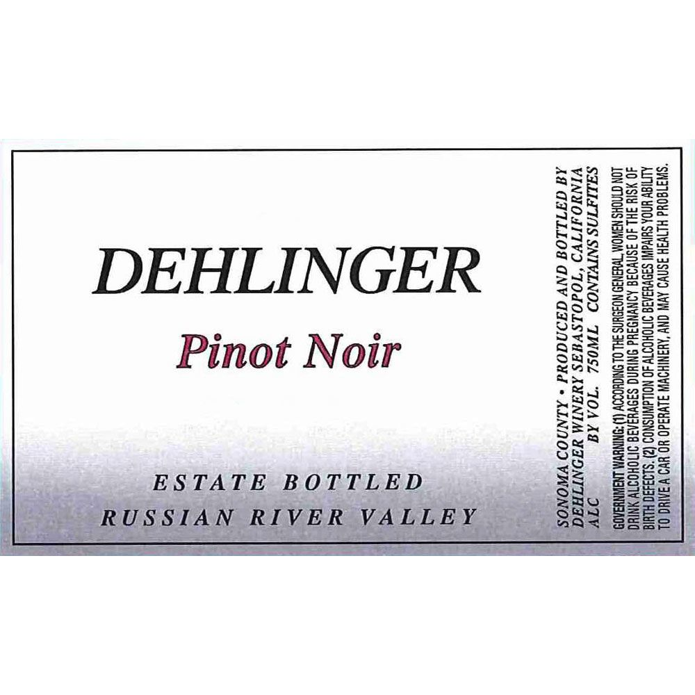Dehlinger Russian River Valley Pinot Noir 2003 Front Label