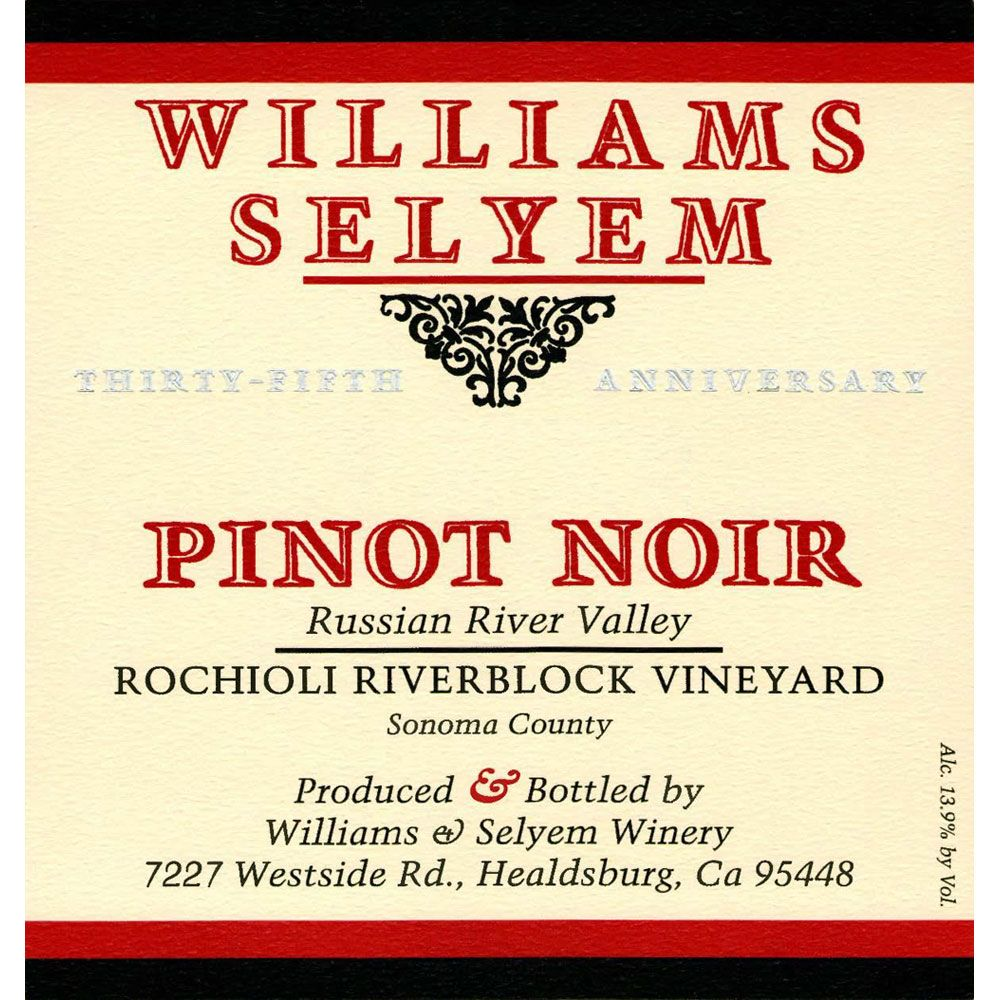Williams Selyem Rochioli Riverblock Vineyard Pinot Noir 2002 Front Label