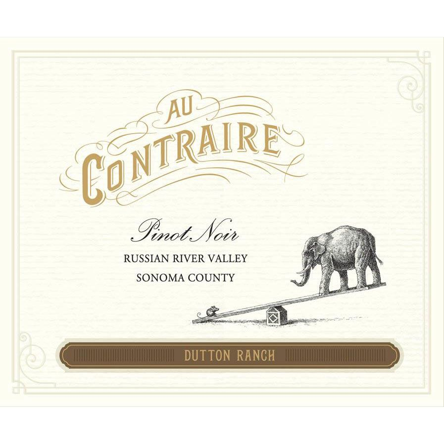 Au Contraire Dutton Ranch Pinot Noir 2014 Front Label