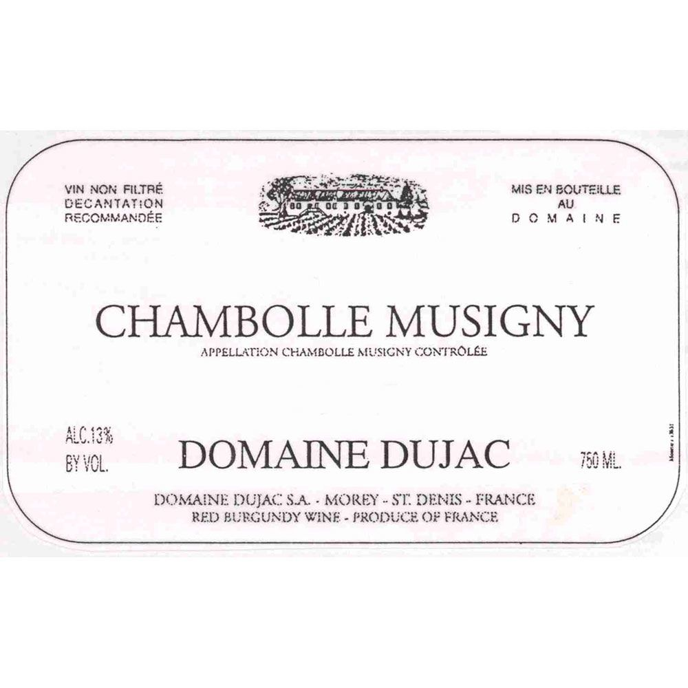 Domaine Dujac Chambolle-Musigny 1996 Front Label
