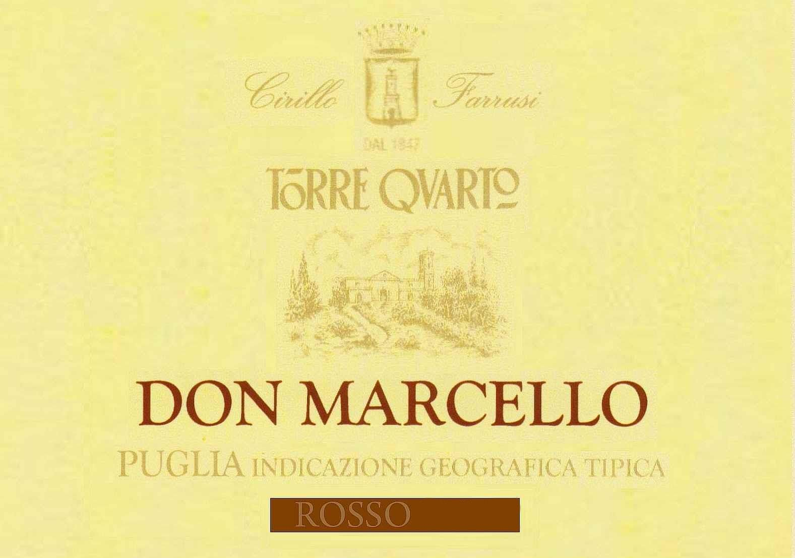 Torre Quarto Don Marcello Rosso 2010 Front Label