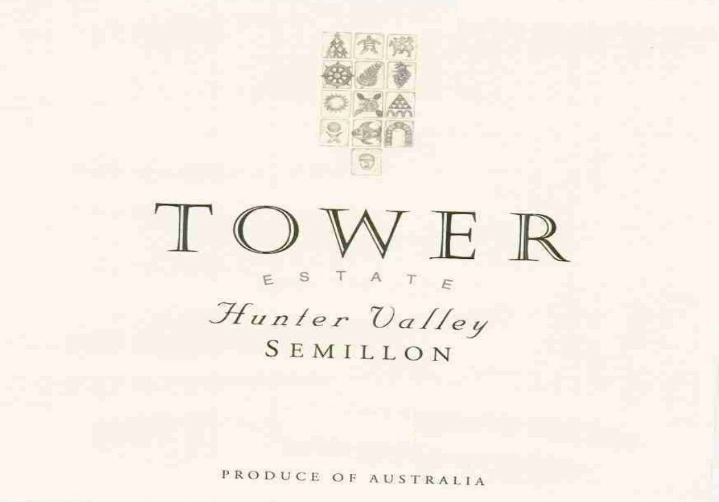 Tower Estate Semillon 2012 Front Label