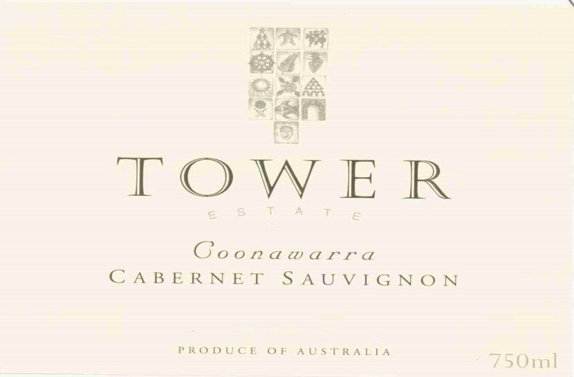 Tower Estate Cabernet Sauvignon 2001 Front Label