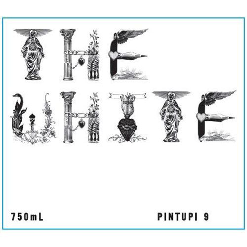 Pintupi 9 The White 2016 Front Label