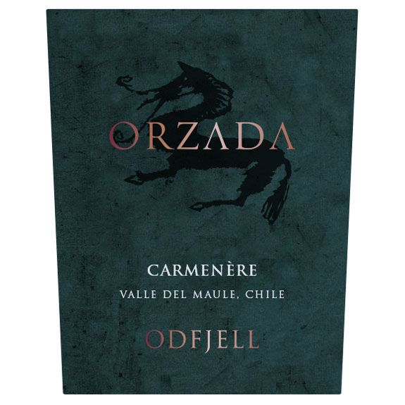 Odfjell Orzada Carmenere 2015 Front Label