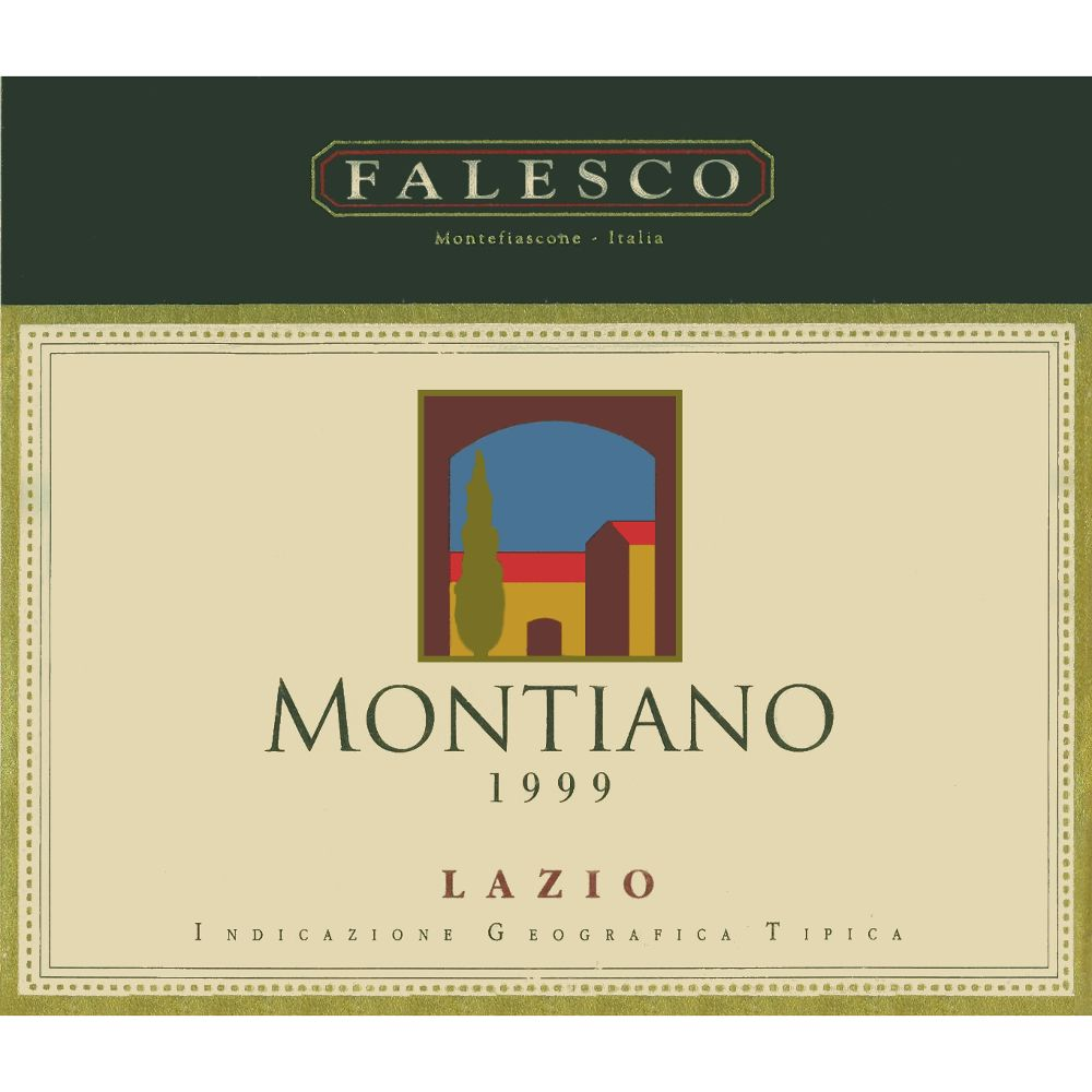 Falesco Montiano 1999 Front Label