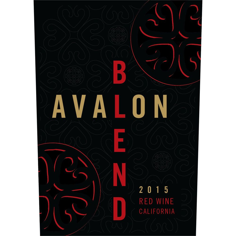 Avalon Red Blend 2015 Front Label
