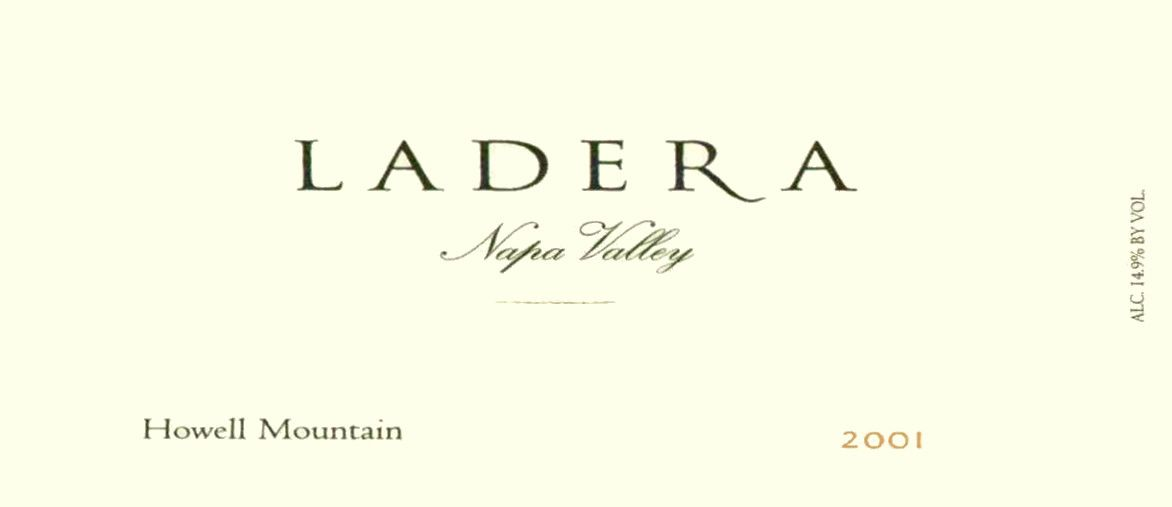Ladera Howell Mountain Cabernet Sauvignon 2001 Front Label