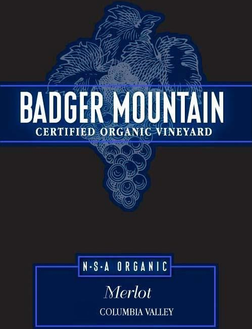 Badger Mountain N.S.A Organic Merlot 2016 Front Label
