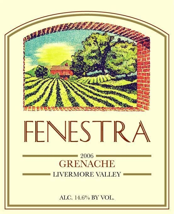 Fenestra Winery Grenache 2006 Front Label