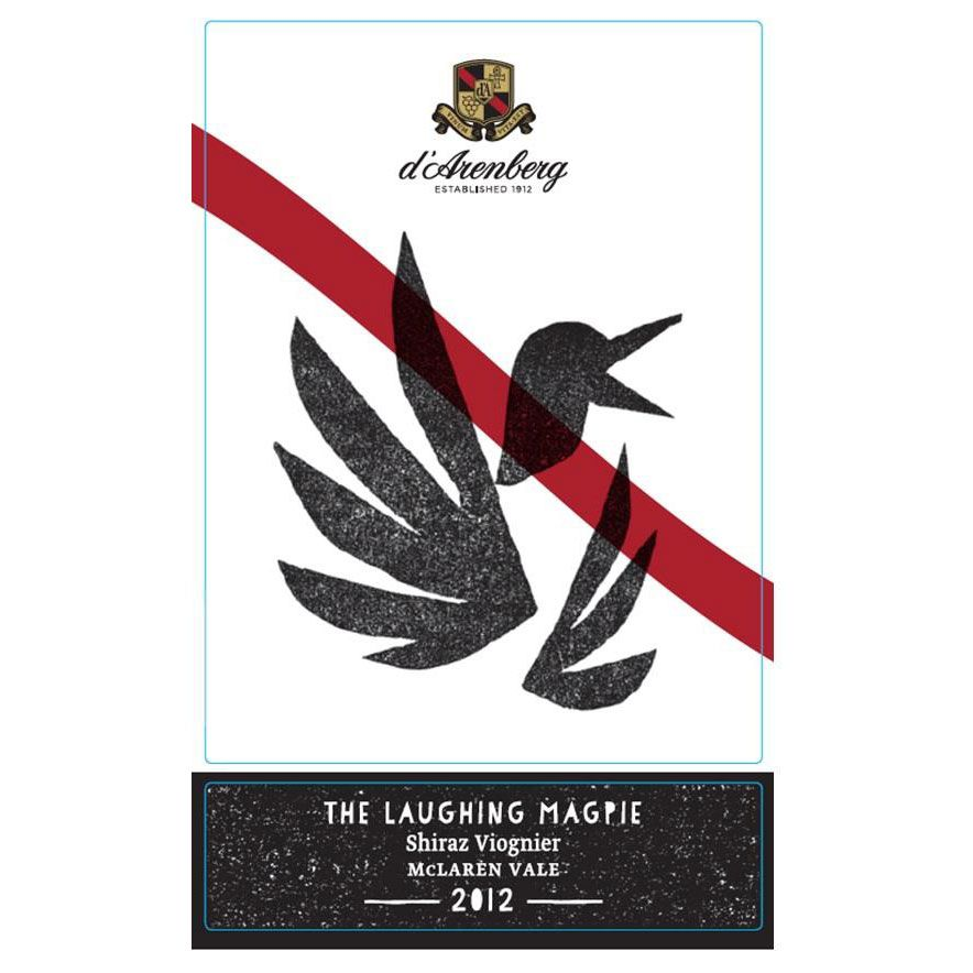 d'Arenberg The Laughing Magpie Shiraz Viognier 2012 Front Label