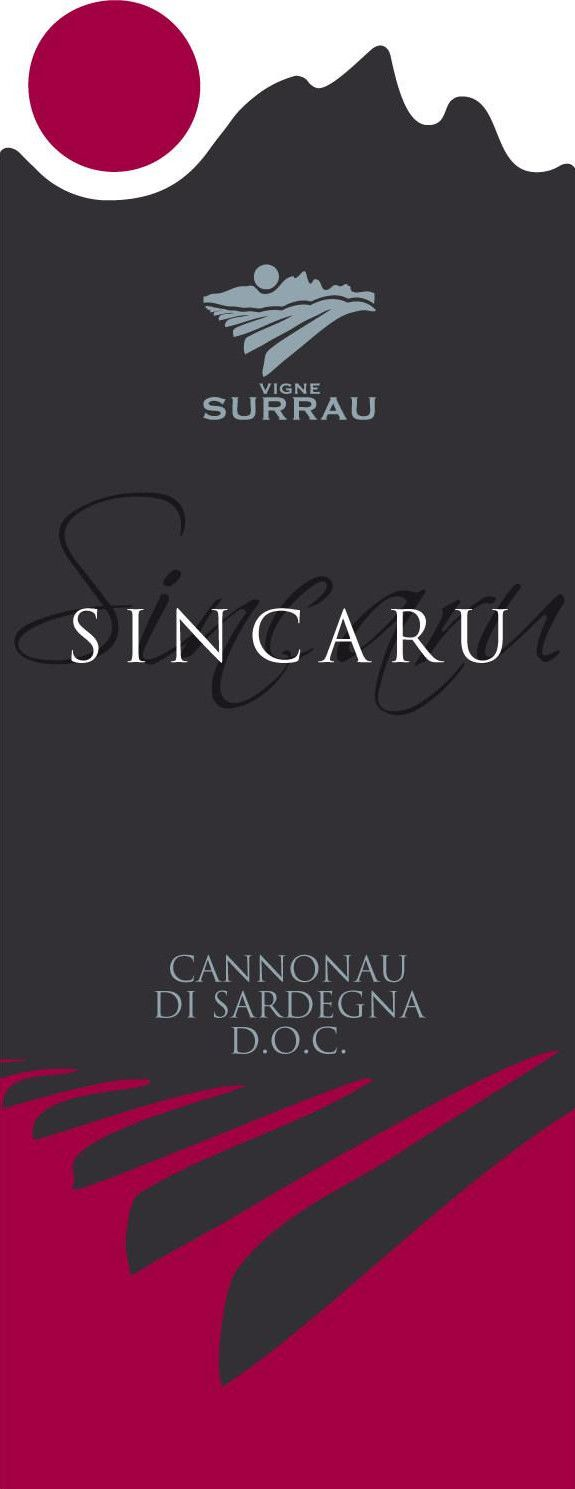 Vigne Surrau Cannonau di Sardegna Sincaru 2013 Front Label
