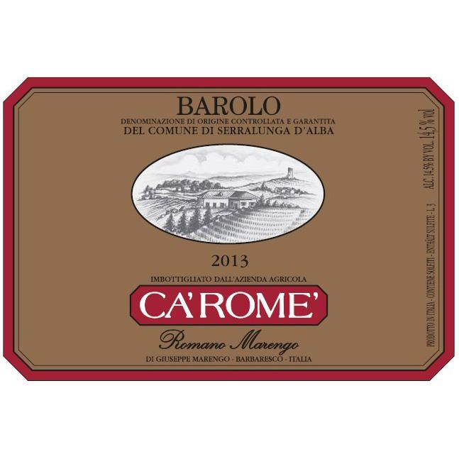 Ca' Rome Rapet Gold Label Barolo 2013 Front Label