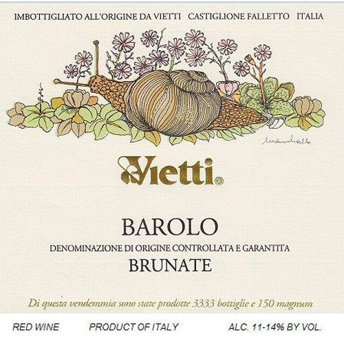 Vietti Barolo Brunate 2013 Front Label