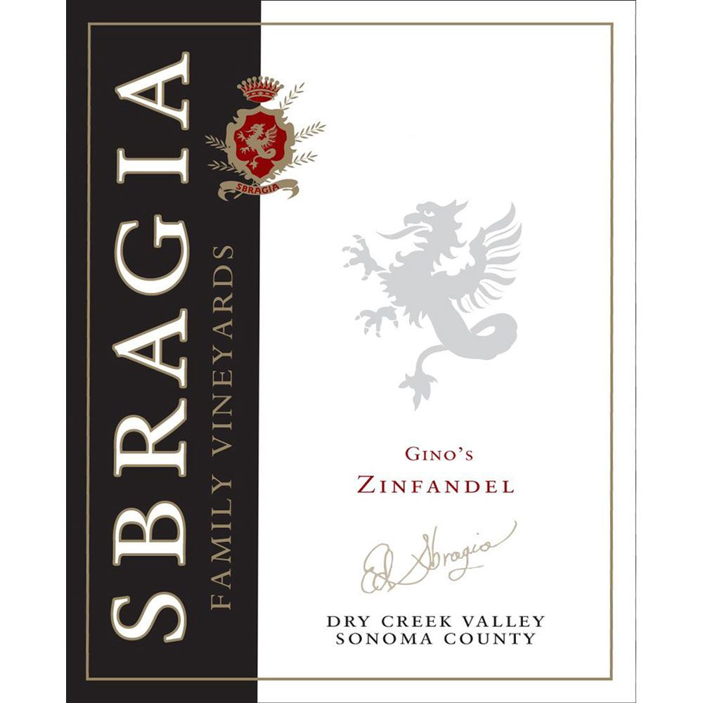 Sbragia Gino's Dry Creek Valley Zinfandel 2014 Front Label