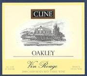 Cline Oakley Vin Rouge 2000 Front Label