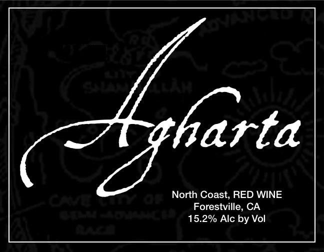 Agharta Black Label Red 2009 Front Label
