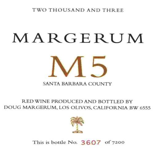 Margerum M5 Red 2003 Front Label