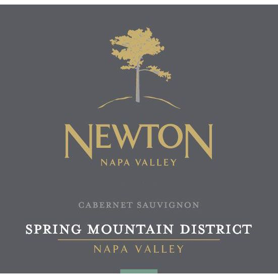Newton Single Vineyard Spring Mountain Cabernet Sauvignon 2015 Front Label