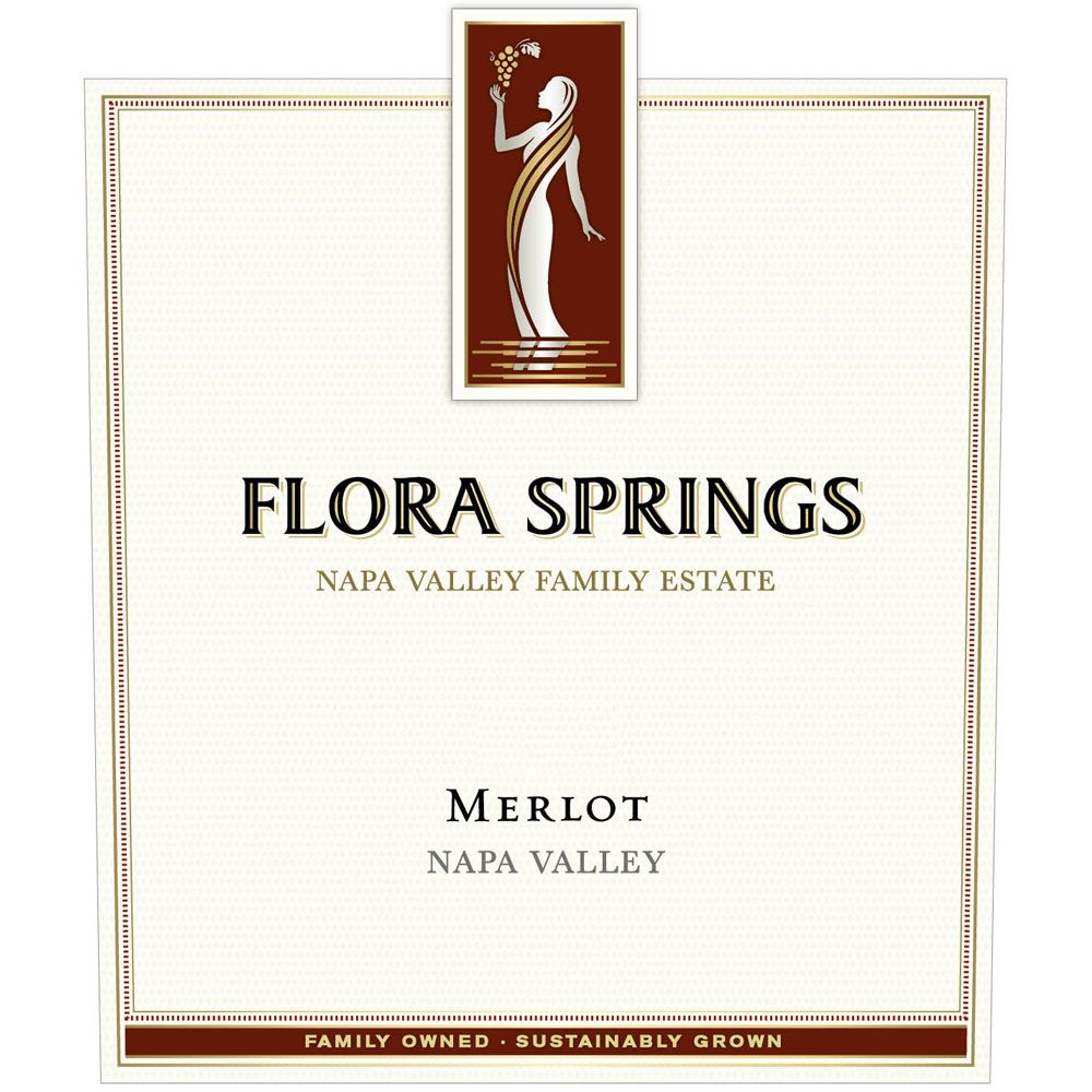 Flora Springs Napa Valley Merlot 2016 Front Label