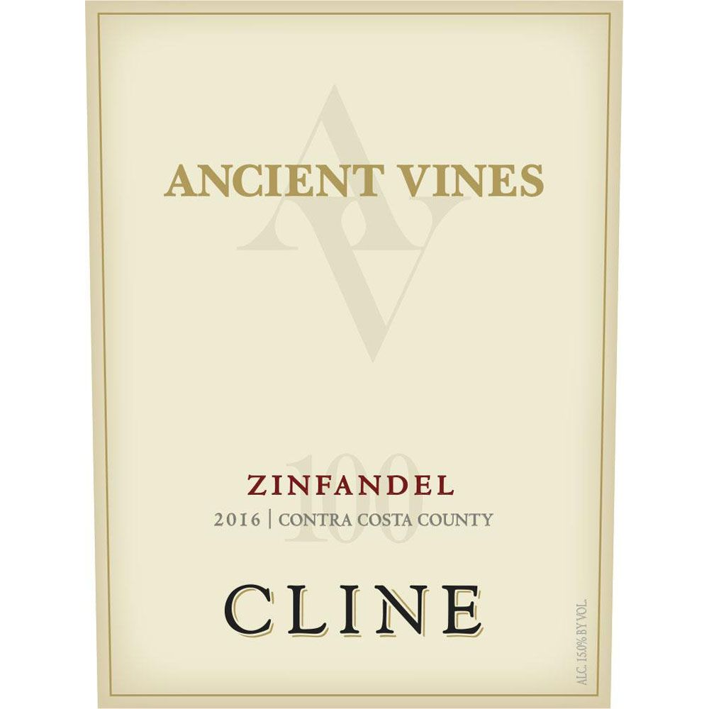 Cline Ancient Vines Zinfandel 2016 Front Label