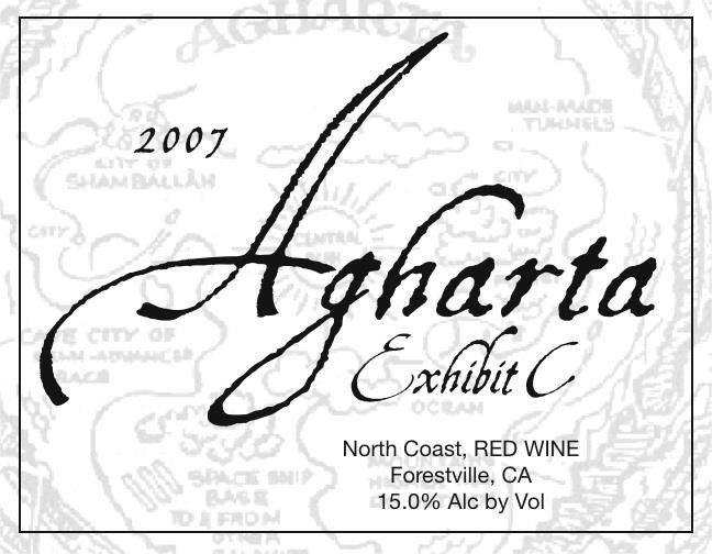 Agharta Exhibit C Red 2007 Front Label
