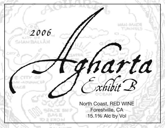 Agharta Exhibit B Red 2006 Front Label
