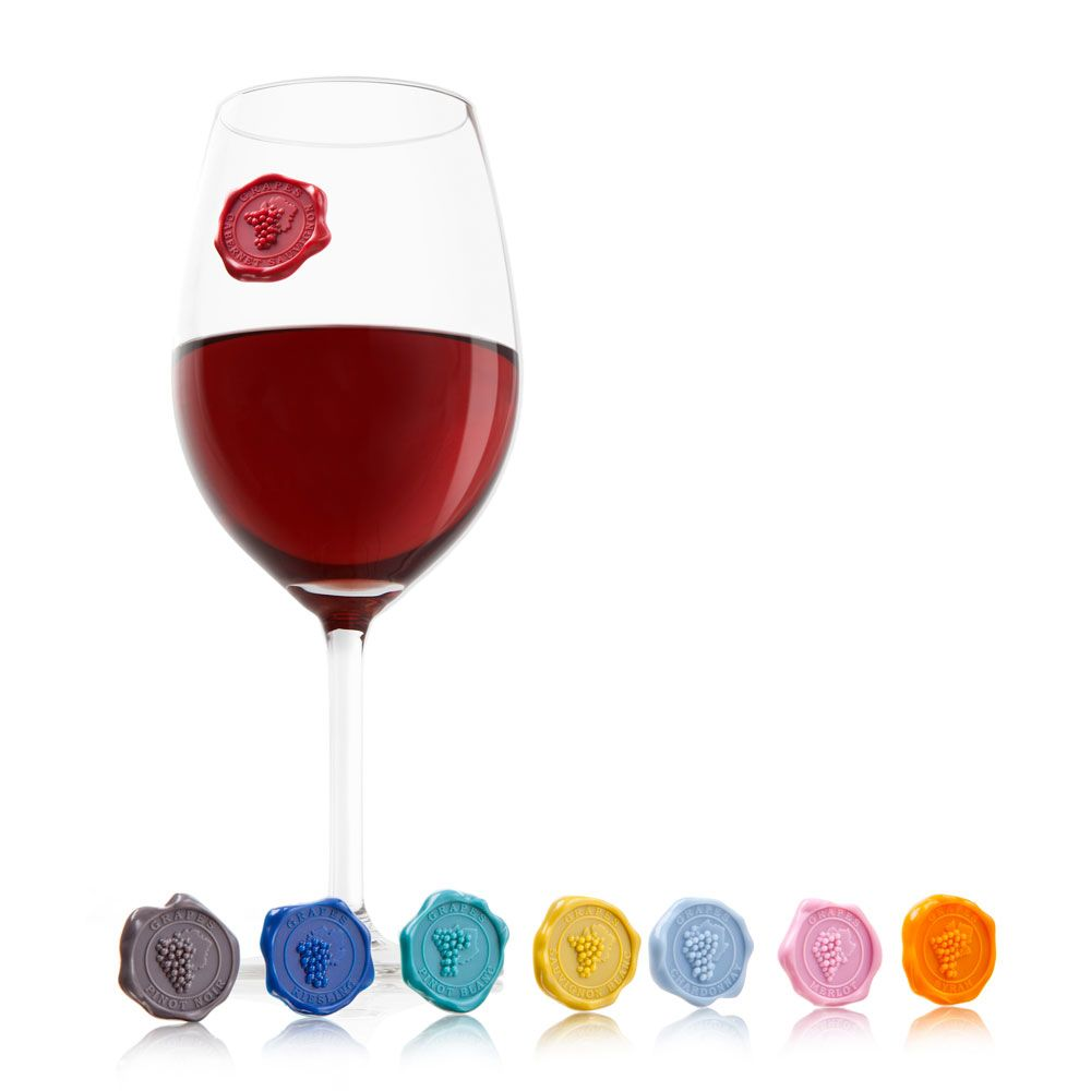 wine.com Vacu Vin Classic Grape Markers Gift Product Image