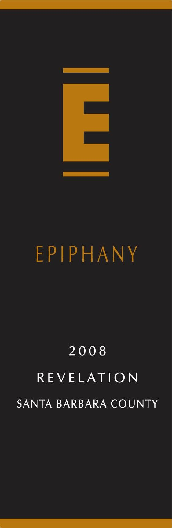 Epiphany Cellars by Fess Parker Revelation Red 2008  Front Label