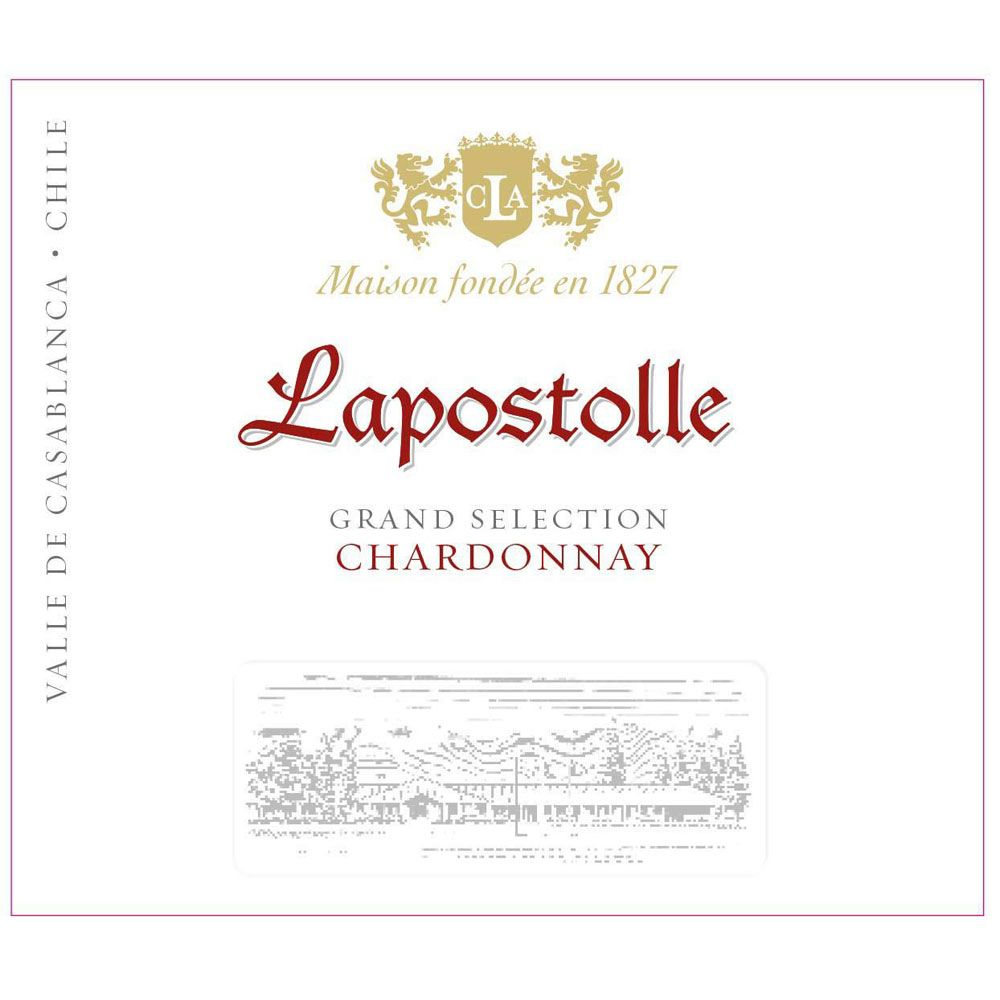 Lapostolle Casa Grand Selection Chardonnay 2016 Front Label