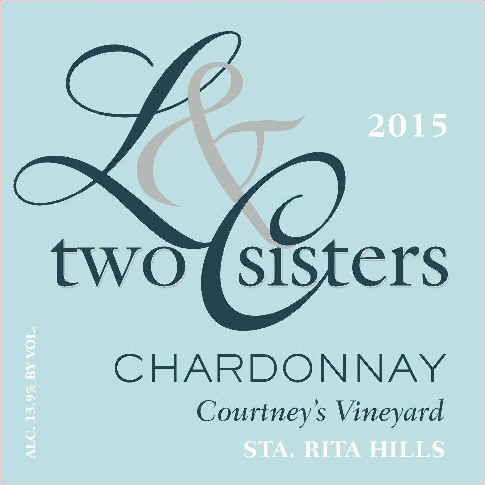 Two Sisters Courtney's Vineyard Chardonnay 2015 Front Label