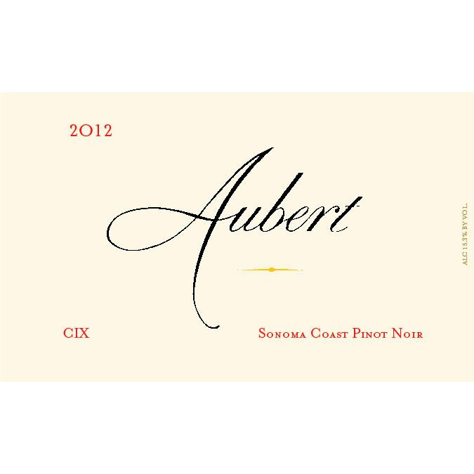 Aubert CIX Vineyard Pinot Noir (1.5L Magnum) 2012 Front Label