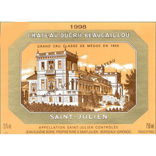 Chateau Ducru-Beaucaillou  1998 Front Label