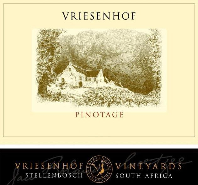 Vriesenhof Vineyards Vineyards Pinotage 2010 Front Label