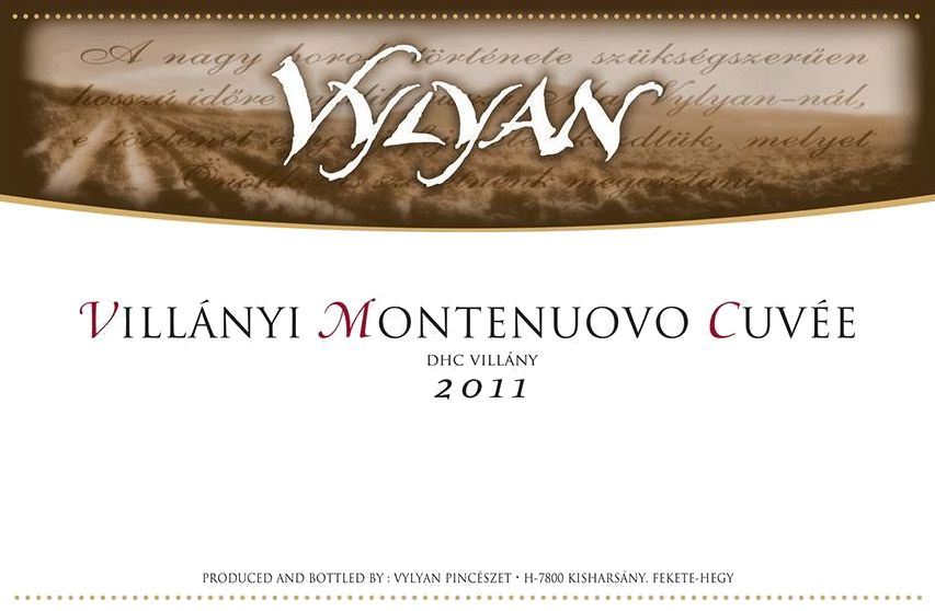 Vylyan Vineyards & Winery Cuvee Montenuovo 2011 Front Label