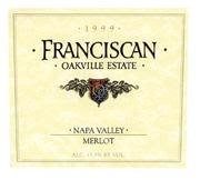 Franciscan Estate Merlot 1999 Front Label