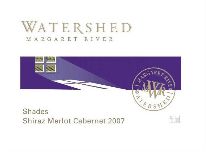 Watershed Premium Wines Shades Shiraz Merlot Cabernet 2007 Front Label