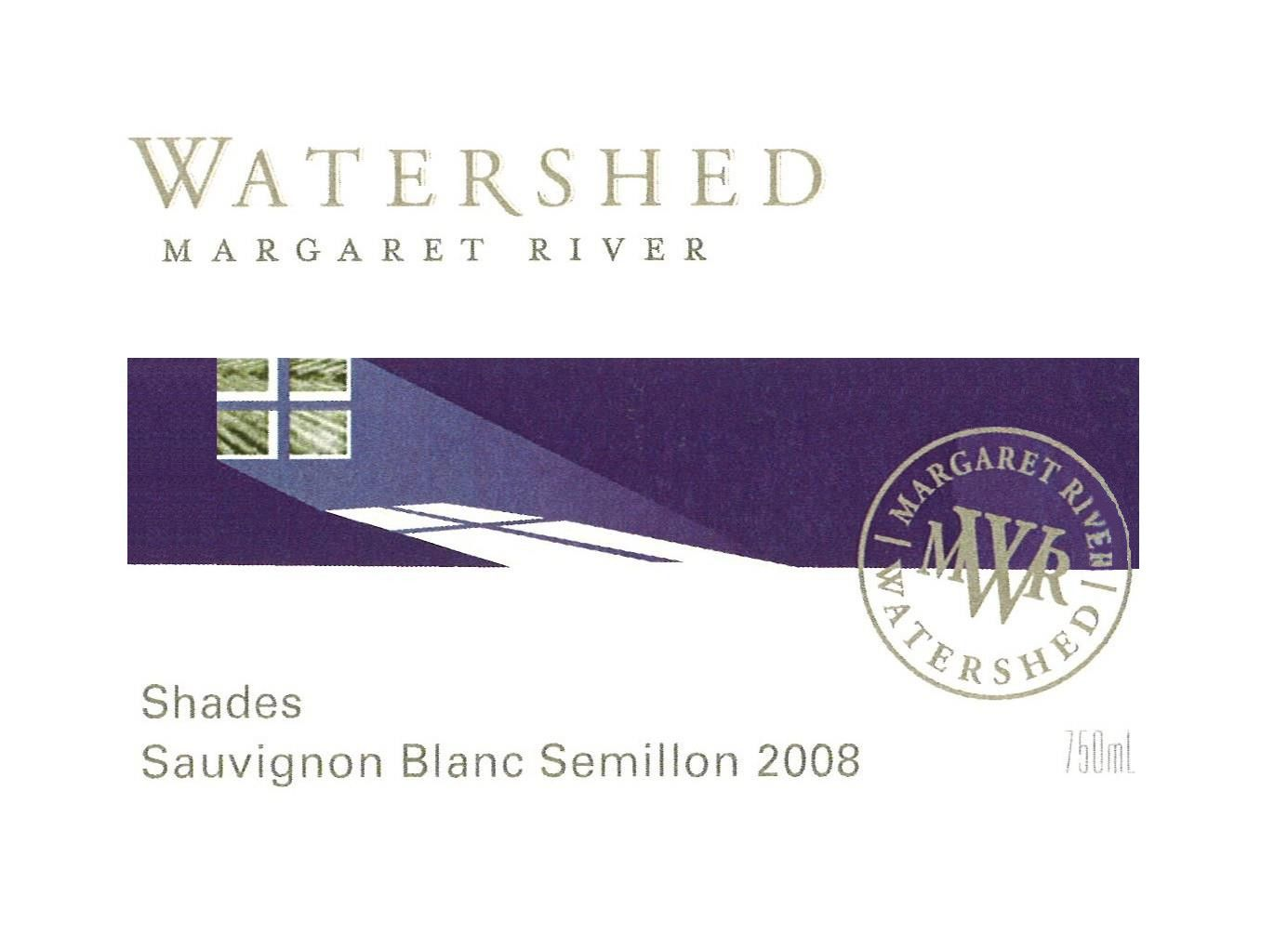 Watershed Premium Wines Shades Sauvignon Blanc Semillon 2008 Front Label