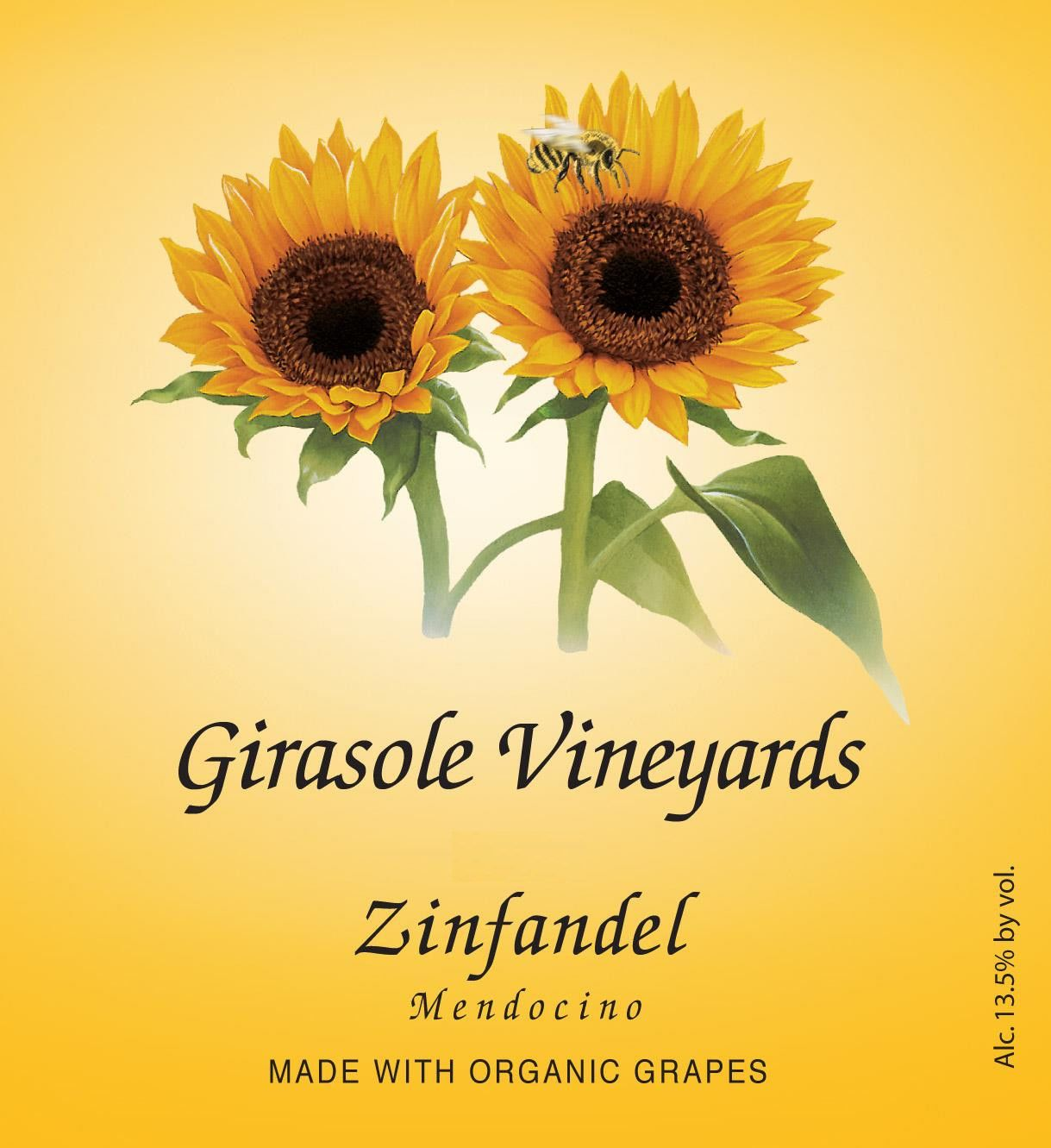 Girasole Vineyards Zinfandel 2010 Front Label