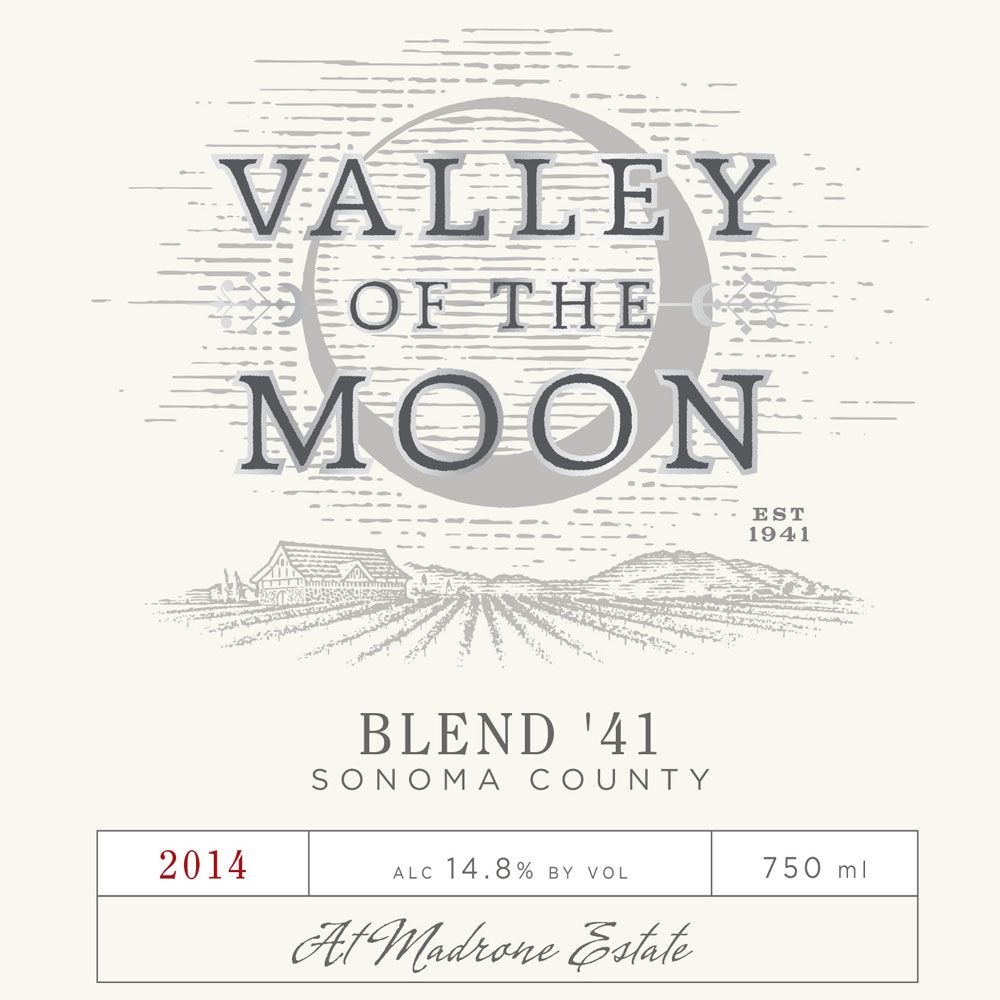 Valley of the Moon Blend 41 2014 Front Label