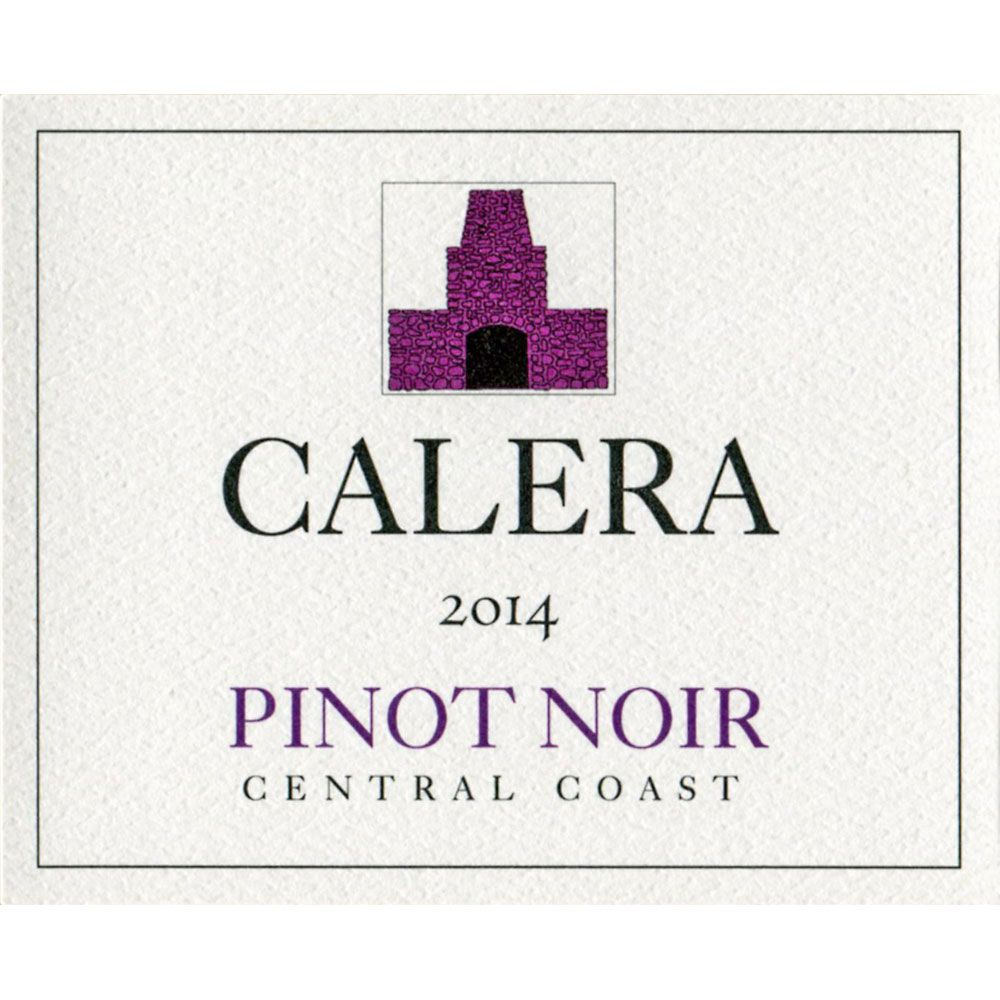Calera Central Coast Pinot Noir (375ML half-bottle) 2014 Front Label