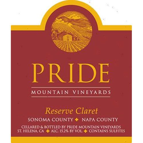 Pride Mountain Vineyards Reserve Claret 2014 Front Label