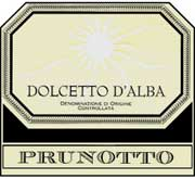 Prunotto Dolcetto d'Alba 2000 Front Label