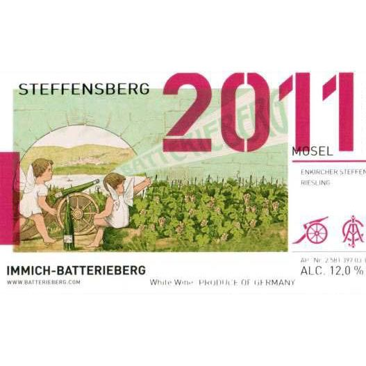 Immich-Batterieberg Steffensberg Riesling 2011 Front Label